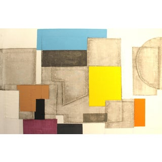 1950s Abstract Screenprint by Norio Azuma For Sale