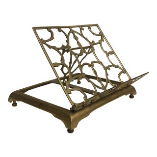 Vintage Brass Book Stand For Sale