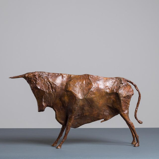 Sculpture of a Standing Bull by Christian Maas - Image 3 of 7