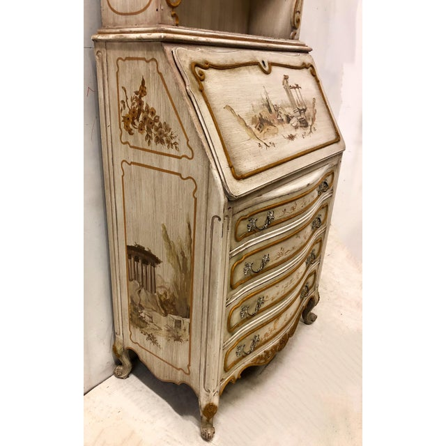 Paint Hand Painted Venetian Secretary For Sale - Image 7 of 9
