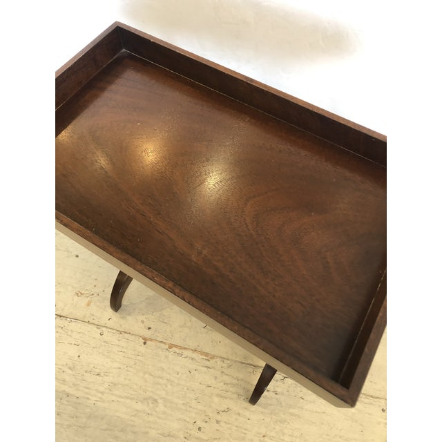 Mahogany Rectangular Small End Table With Banded Inlay For Sale - Image 10 of 11
