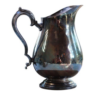 1920s Wm Rogers Silver Pitcher For Sale
