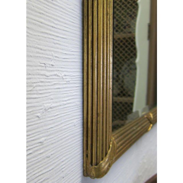 Prince of Wales Gilded Ribbon Wood Carved Mirror For Sale - Image 4 of 10