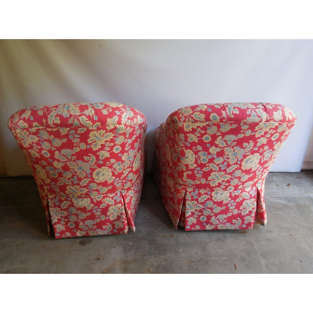1950s Floral Accent Chairs - A Pair - Image 5 of 6