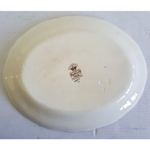 Estate sale found. I love seeing a collection of these wonderful English Ironstone platters. This brown, cream, green and...
