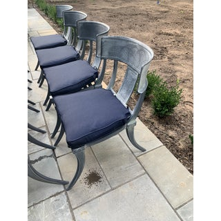 Set of 8 Restoration Hardware Iron Klismos Luxe Side Chairs Preview