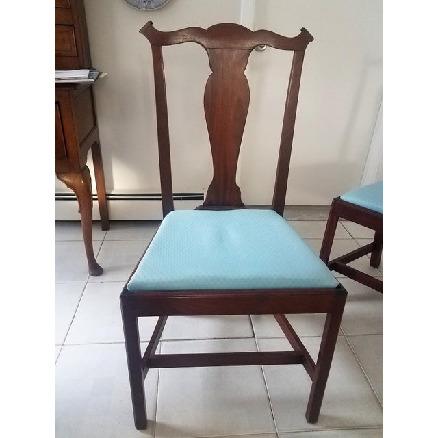 Mid-Century Chippendale Style Mahogany Dining Chairs - Set of 4 For Sale - Image 4 of 6
