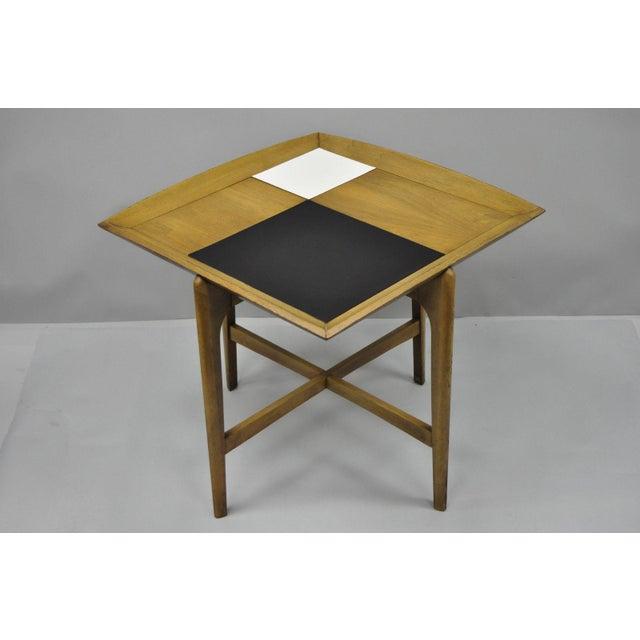 John Keal Brown Saltman Mid-Century Danish Modern Sculptural Walnut Side Table For Sale - Image 10 of 12