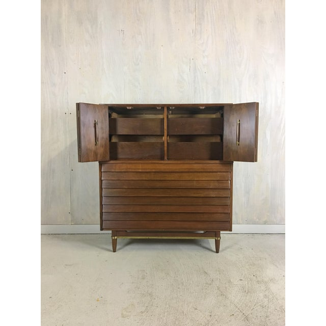American of Martinsville Dania Highboy for American of Martinsville by Merton Gershun For Sale - Image 4 of 9
