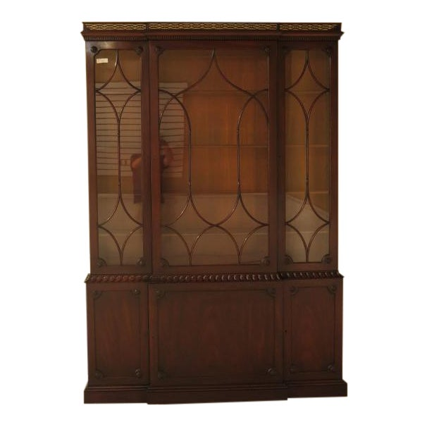 Kittinger Colonial Williamsburg Model CW-38 Mahogany Breakfront Bookcase For Sale