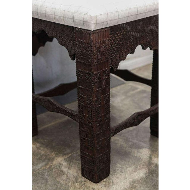 19th Century Turkish Carved Wood Chair - Image 2 of 7