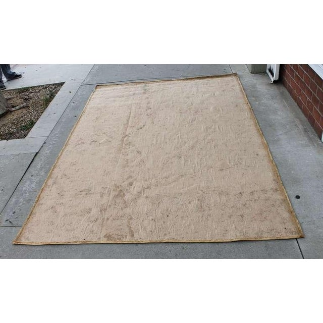 1930s Large Room Sized Rose and Ribbons Hand Hooked Rug For Sale - Image 5 of 7