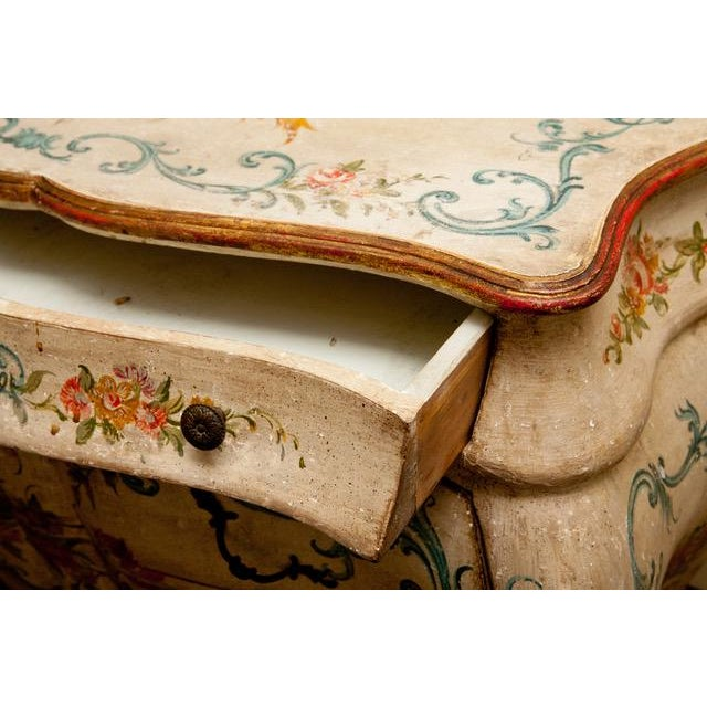 1990s 1990s French Shabby Chic Hand Painted Commode For Sale - Image 5 of 6