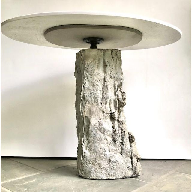 Organic Modern Concrete Terrazzo Accent Table For Sale - Image 4 of 6