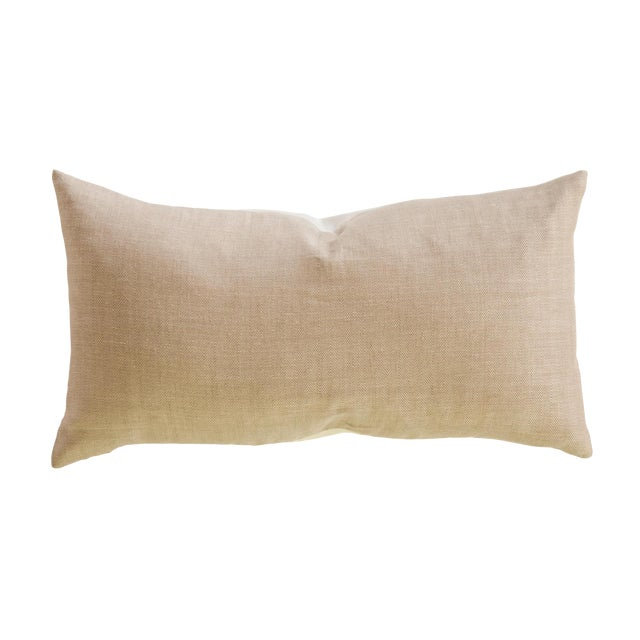 Neutral Linen Lumbar Pillow Chairish