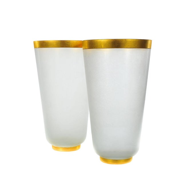 Archimede Seguso-1960s Frost Glass Vases - A Pair - Image 2 of 5