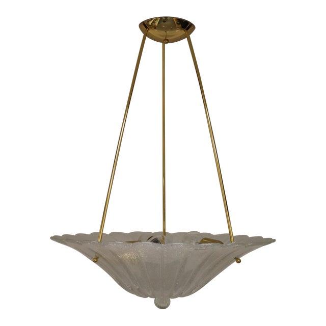 Vintage Mid-Century Modern Murano Glass Pendant Lamp For Sale