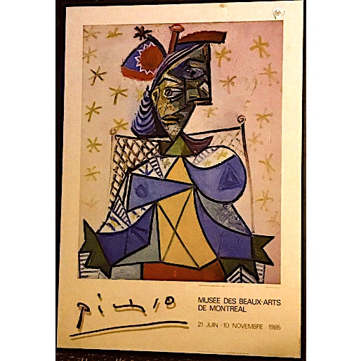 Drawing/Sketching Materials Pablo Picasso Original Exposition Poster 1985 Montreal Museum of Fine Arts For Sale - Image 7 of 7