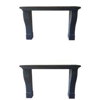 Contemporary Bluestone Wall Consoles - a Pair For Sale