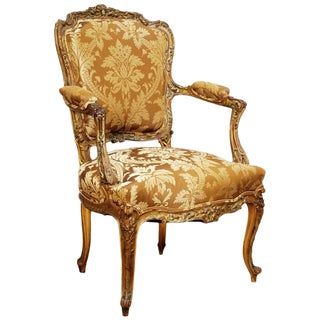 Louis XV Style Fauteuil or Armchair, Italy Circa 1780 For Sale