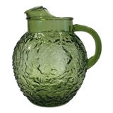 Image of 1960s Anchor Hocking Lido Green Pitcher For Sale