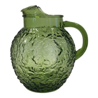 1960s Anchor Hocking Lido Green Pitcher For Sale