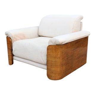 1960's Vintage Italian Rossi DI Albizzate Burlwood for Casa Bella Chair For Sale