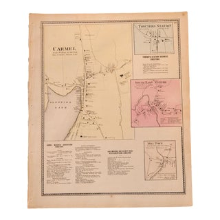 Antique Carmel NY map