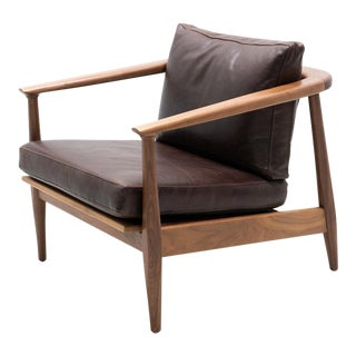 Hand Crafted Dux Walnut Arm Chair For Sale