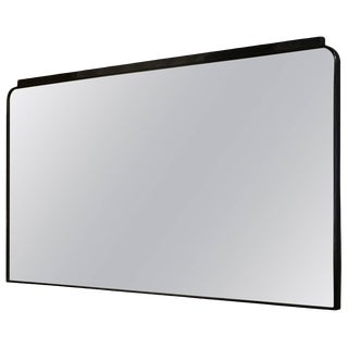 Mid-Century Modern Ebonized Mirror by Osvaldo Borsani For Sale