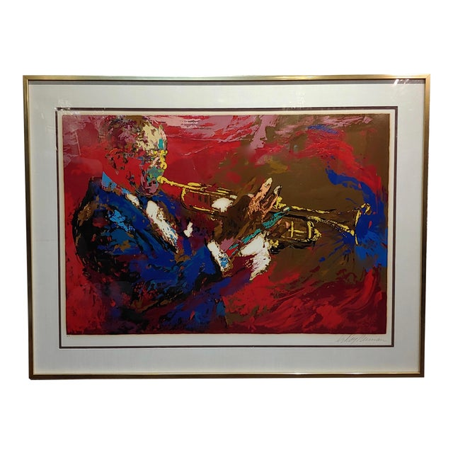 1976 Portrait Silkscreen of Satchmo Louis Armstrong by Leroy Neiman For Sale
