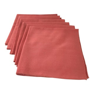 Salmon Dinner Napkins - Set of 6 For Sale