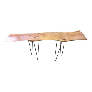 Live Edge Console Table w / Hairpin Legs