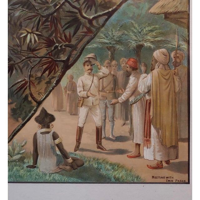 Stanley in Africa Looking for Livingstone-Original Silkscreen Lithograph For Sale In Los Angeles - Image 6 of 10