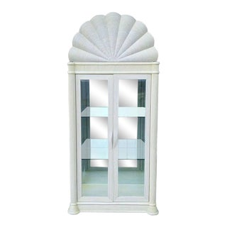 1980s Art Deco Glass Display Cabinet For Sale