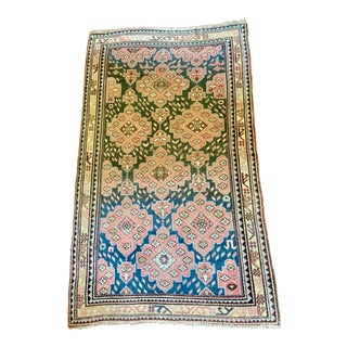 Antique Caucasian Rug- 4′ × 6′11″ For Sale