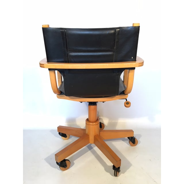 Hollywood Regency Asher Benjamin Studio Mid Century Desk Chair For Image 3 Of 9