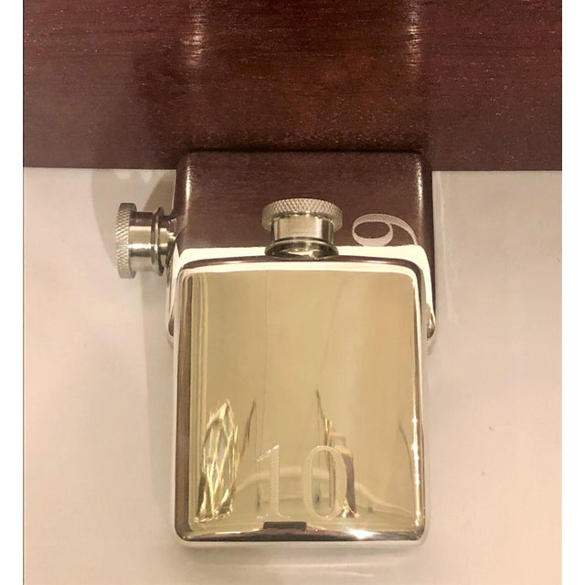 Late 20th Century English Fox Hunt Numbered Flask Set: 10 Silver Flasks in Custom Fitted Box. For Sale - Image 5 of 6