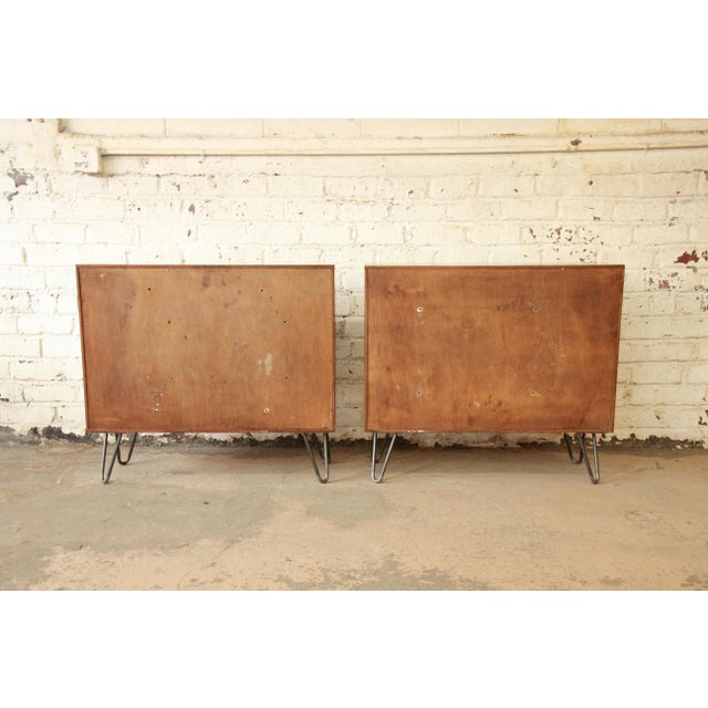 Paul McCobb for Calvin Small Cabinets on Hairpin Legs- a Pair - Image 9 of 9