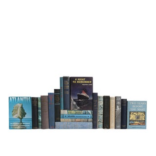 Deep Blue Sea History & Stories Decorative Books - Set of 20
