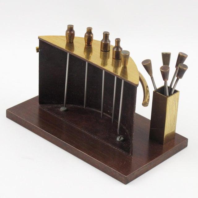 Art Deco Art Deco 1940s Brass Miniature Bar Cocktail Picks For Sale - Image 3 of 8