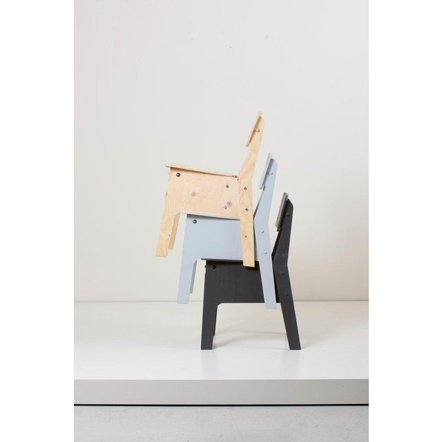 2000 - 2009 1 of 3 Crisis Chairs by Piet Hein Eek in Plywood For Sale - Image 5 of 13