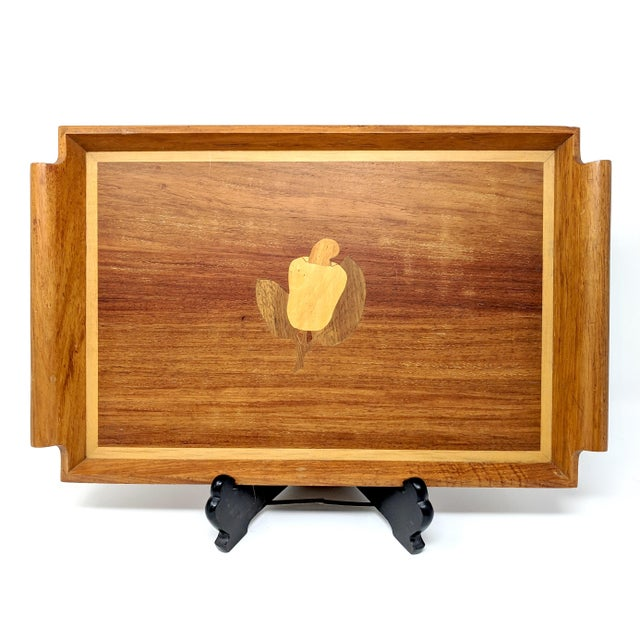 Wood Vintage Filipino Inlaid Wooden Tray For Sale - Image 7 of 7