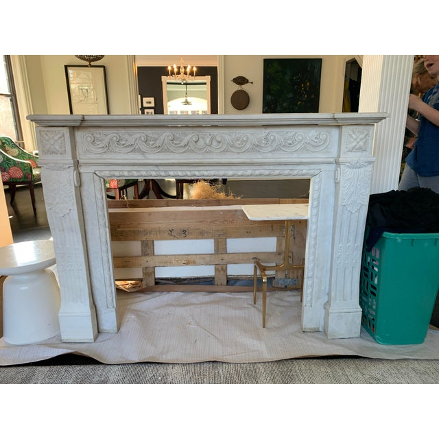 1900s Marble Fireplace Mantel For Sale - Image 10 of 12