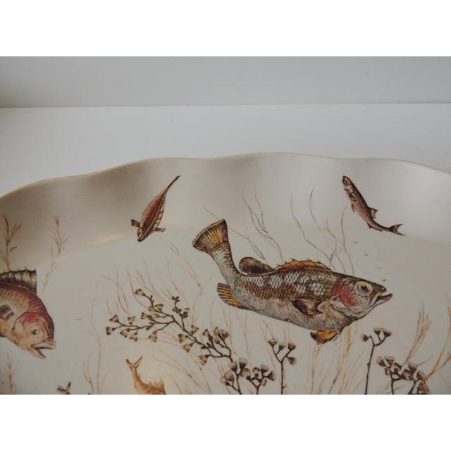 Boho Chic Melamine Oval Serving Platter For Sale - Image 3 of 6