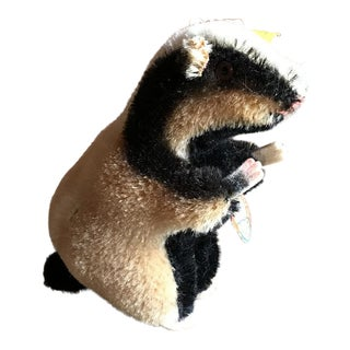1950s Diggy the Badger Toy, Organic Handmade, Steiff of Germany