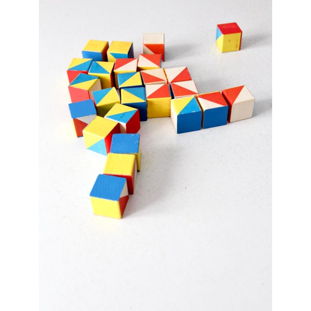 Playskool Color Cubes Toy Blocks Circa 1970 For Sale - Image 4 of 12