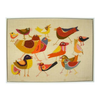 Flock of Birds Textile Wall Art For Sale