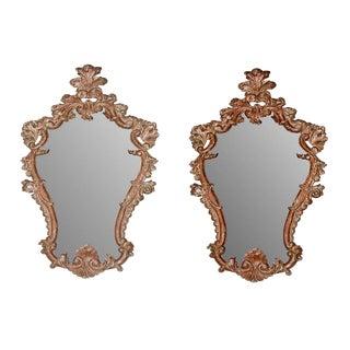 1870s Baroque Italian Mirrors - a Pair