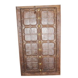 Antique Indian Mid Century Terrace Door Handcarved Jharokha Window For Sale
